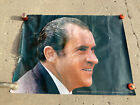 """Large 70s Nixon Poster Re-Elect 41"""" x 53.5"""" Giant Poster of Nixon's Face!"""