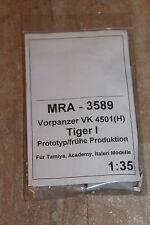 MRA 3589 Vorpanzer VK 4501(H) Tiger I frühe prod. NEU OVP 1:35 Umbau