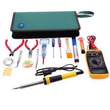 17in1 Electric Rework Soldering Iron Solder Repair Tools Kit with Multimeter