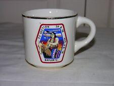 Vintage 1976 Boy Scouts Mug S C Section 3A & 3B Aug. 6-8 '76 Baylor University