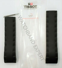 Original Tissot SEA-TOUCH T026420A Black Rubber Watch Band Strap with Pins