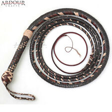 BULL WHIP 08 Feet 16 Plaits Cow Hide Leather CUSTOM BULLWHIP Belly and Bolster