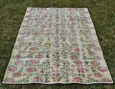 Turkish Vintage Handmade Wool 4x6ft. Area Rug, Anatolian Oushak Wool Rug, Tribal