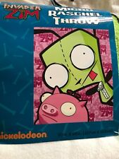 Invader Zim Dog Suit Gir and Pig Plush Micro Raschel Throw Blanket  NWT