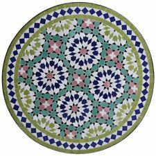 Marocain Bistrotisch En Véritable Mosaïque de Pierres Table Ankabut Vert Olive