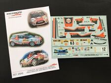 DECAL 1:43 CITROËN DS3 R3 #63E.OJEDA-RALLY CATALUÑA 2012/#12 ISLAS CANARIAS 2013