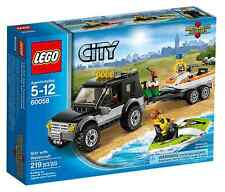 LEGO ® City 60058 véhicule tout-terrain + BATEAUX NEUF _ suv with watercraft New MISB