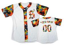 Custom Baseball Jersey Any Size Special design Orange White