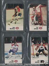 Lot:  4 x Esso NHL Cards/Stickers Hextall Lafleur Dryden Beliveau