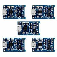 5PCS TP4056 5V 1A Micro USB 18650 Lithium Battery Charging Board Module