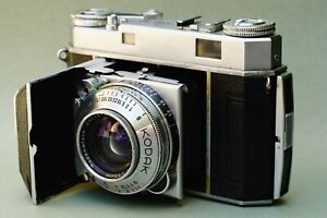 SUPER RARE Kodak Retina IIa 35mm Folding Camera w/ Rodenstock Heligon 50mm F/2