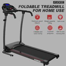 KUOKEL Faltbar Laufband Laufbänder Heimtraining Fitnessgerät Bis zu 220lb/100kg