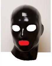 Vestido De Lujo Máscara De Látex Bondage Fetiche Gummi, Capucha, Tamaño Mediano LM047