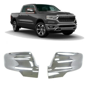 For 2019-2021 Dodge Ram 1500 Mirror Covers Chrome Side Cover Trim W/Turn Signal