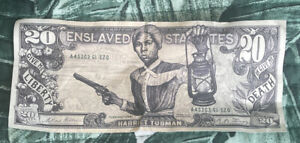 HARRIET TUBMAN on $20 Dollar Bill Novelty Cash 20 Twenty Fake Money Collectible