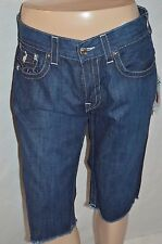 TRUE RELIGION Man's Straight Cut Off Jean Shorts Size 34 Retail $167