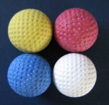 4 Stück original Minigolfbälle / orig. Anlagenbälle (rot / weiss / gelb / blau)