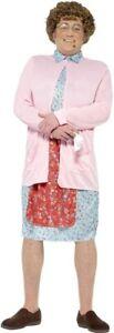 Smiffys Men's Mrs Brown Costume, Dress, Cardigan, Wig, Glasses, Handkerchief & M