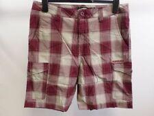 Cotton Check Regular Quiksilver Shorts for Men