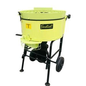 120L Mortar Mixer Concrete Mixer Screed Mixer Heavy Duty Pan Mixer 1500W Output