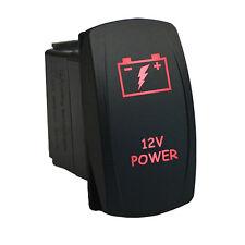 Rocker switch 6B61R 12V 12V POWER Laser  LED red 20amp Dorango