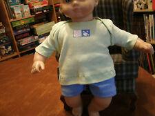 handmade bitty baby boy light blue shorts/light green tee w sports theme 1153