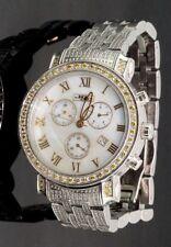 Mens JOJO JC10132 Joe Rodeo 2.60 CTTW Yellow White Diamond Band Watch #32520