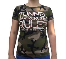 """Tunnel Shirt """"UNDERGROUND RULEZ"""" Camouflage Girls"""