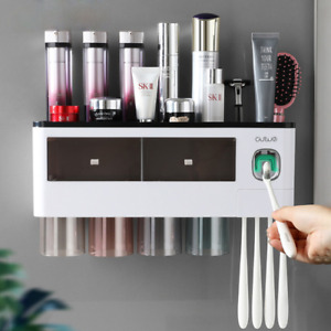 Toothbrush Holder For Bathroom Household Auto Toothpaste Squeezer Storage Shelf