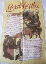 VINTAGE LINEN SOUVENIR TEA TOWEL SNAKE GULLY POEM GUNDAGAI DOG ON TUCKER BOX