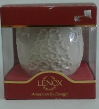 Lenox Christmas Candle Holder Merry Lights Ivory Gold Nib Tree Votive Tea Light