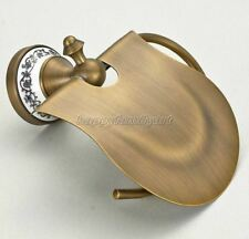Antique Brass Ceramic Base Bathroom Wall Mounted Toilet Roll Paper Holder yba405