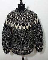 Island Norweger Strick Pullover Grösse M Damen Wolle Handarbeit L163