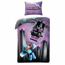 Minecraft Dragon Single Cotton Duvet Cover Set  2 In 1 Design Bedtime Boys