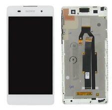 100% ORIGINALE Sony Xperia e5 f3311 display lcd frame bianco buone condizioni