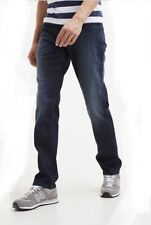 WRANGLER TEXAS STRETCH STRAIGHT LEG DARK DENIM THERMOLITE  RRP £75 FREE POST