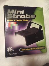 BRAND NEW Intertek Mini Strobe w/3 Color Gels Light