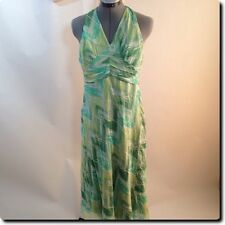 Jonathan Martin Green Silk Halter Dress 6