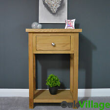 Oak Small Console Table / Hall Table / Solid Wood / Telephone Table / Oakley