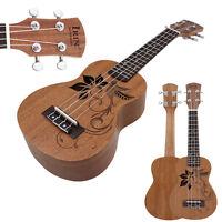 "New IRIN 21"" Bird Flower Soprano Sapele Ukulele Uke Bag 4 Strings Guitar"
