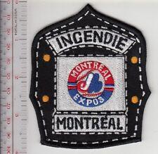 Montreal Fire Department & MTL Expos Baseball Team Helmet Shield Promo Patch