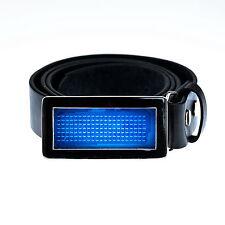 LED Display Gürtel Buckle Silber Scrolling Text Name LED Belt Buckle Blau Glatt