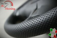 FOR RANGE ROVER L322 BLACK PERF LEATHER STEERING WHEEL COVER BLACK DOUBLE ST
