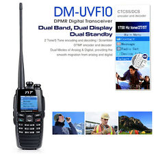 TYT DM-UVF10 Dual Display Two-Way Radio 256CH DTMF DPMR Ham Transceiver US Ship