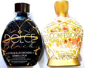 Designer Skin Confessions 20x DHA Tanning Bed Lotion & DOLCE Black Bronzer