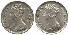 2 pc Hong Kong Silver 1893 10 Cents & 1897 10 Cents