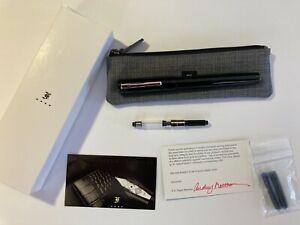 Franklin-Christoph Model 20 Marietta - Classic Black with Clip - Medium Nib