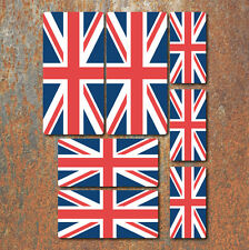 Union Jack Flag Laminated Sticker Set GB Great Britain English UK Decals