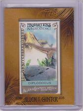 Rare 2015 Allen & Ginter Mesozoic 10Th Anniversary Mini Card 2010 ~ Diplodocus
