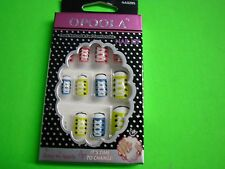 New ! 12 PK Cute Design False Nail Art Manicure Tips Fashion Assorted Color